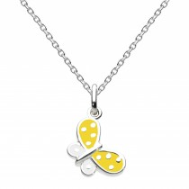 Kit Heath Butterfly Yellow Silver Necklace 9923YE [Save 25% off RRP]