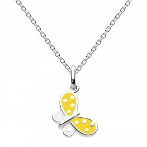 Kit Heath Yellow Summertime Butterfly Necklace - 9923YE015