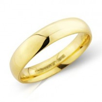 Gents 18ct Gold 4mm Heavy Court Wedding Band [Save 40% OFF High Street Prices]