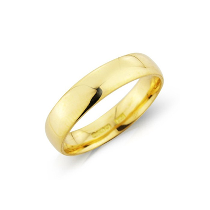 18ct Gold 5mm Deluxe Court Wedding Band - sizes I to O