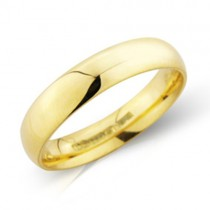 Ladies 18ct Gold 4mm Court Wedding Band [Save 40% OFF High Street Prices]