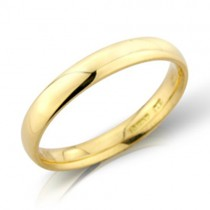 Ladies 18ct Gold 3mm Court Wedding Band [Save 40% OFF High Street Prices]