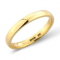 Ladies 18ct Gold 2.5mm Court Wedding Band [Save 40% OFF High Street Prices]
