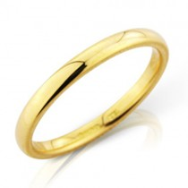 Ladies 18ct Gold 2mm Court Wedding Band [Save 40% OFF High Street Prices]