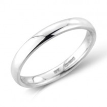 Ladies 18ct White Gold 2.5mm Court Wedding Band [Save 40% OFF High Street Prices]
