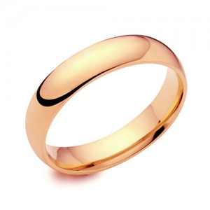 18ct Rose Gold 5mm Deluxe Court Wedding Band - sizes P to Z