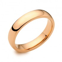 18ct Rose Gold 4mm Deluxe Court Wedding Band - sizes P to Z