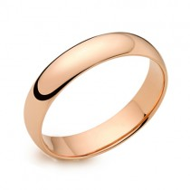 Ladies 18ct Rose Gold 4mm Court Wedding Band [Save 40% OFF High Street Prices]