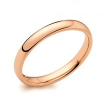 Ladies 18ct Rose Gold 2.5mm Court Wedding Band [Save 40% OFF High Street Prices]