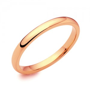 18ct Rose Gold 2mm Deluxe Court Wedding Band - sizes I to O