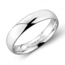 Gents Platinum 4mm Heavy Court Wedding Band [Save 40% OFF High Street Prices]