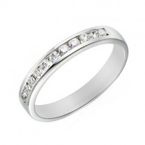 Platinum Channel Set Diamond Wedding Ring [Save 40% off high street prices]