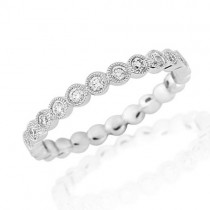 18ct White Gold Half Carat Full Millgrain Set Eternity Ring - 0.50cts [Save up to 40% off high street prices]