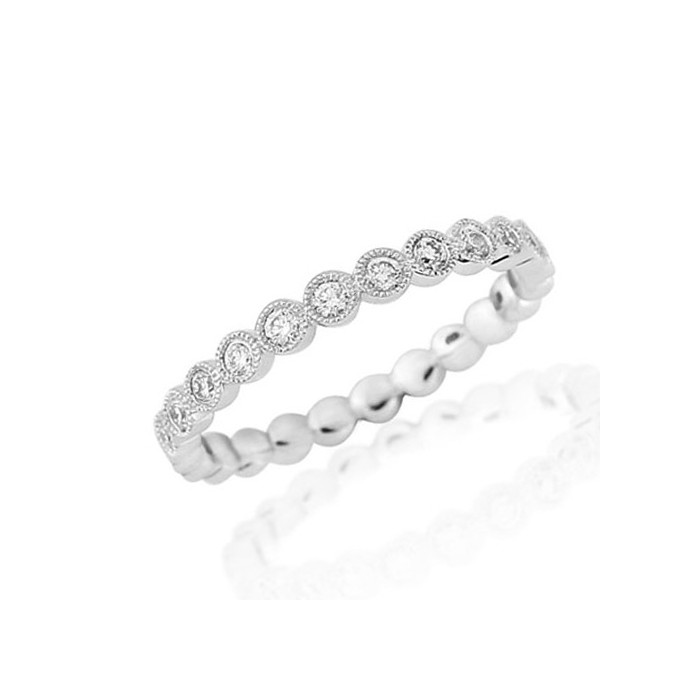 18ct White Gold Full Eternity Ring - 0.50cts
