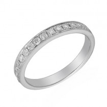 Platinum Half-set Diamond Wedding Band [Save up to 40% high street prices]
