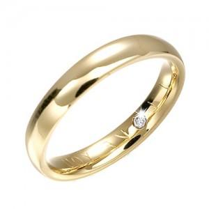 18ct Yellow Gold Secret Diamond Wedding Band