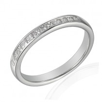 Platinum Princess Cut Diamond Wedding Band