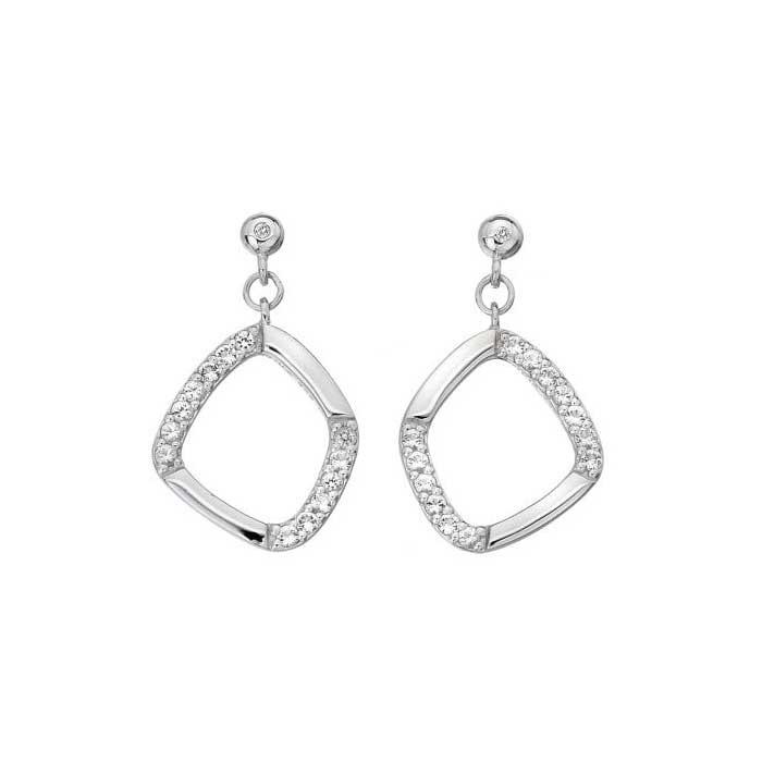 Hot Diamonds Behold White Topaz Drop Earrings - DE646