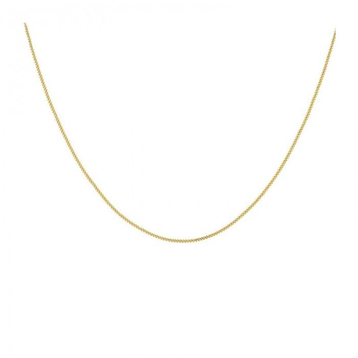 9ct Yellow Gold 18 Inch Diamond Cut Curb Chain