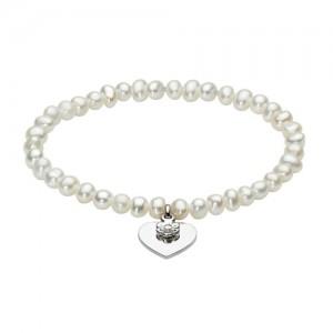 Kit Heath Hearts and Flowers Pearl Bracelet - 79103FP