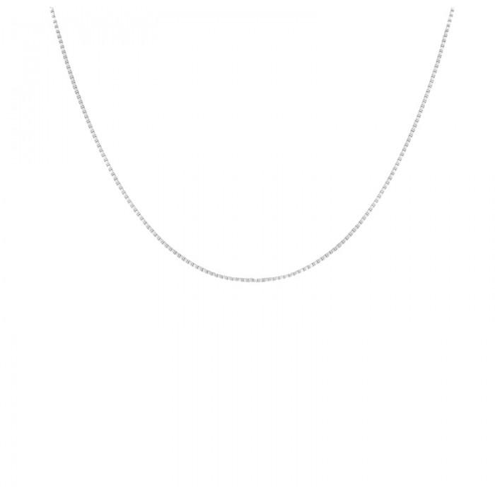 "18ct White Gold 16""Box Link Chain"