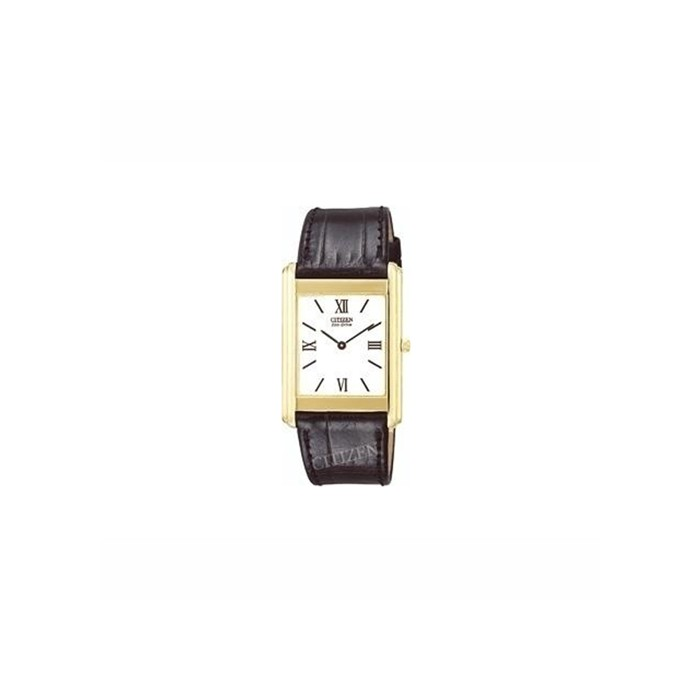 Citizen Gents 18ct Gold Stiletto Leather Strap Watch - AR102305A