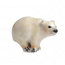 Saturno Silver Polar Bear Ornament - 1300M - Macintyres of Edinburgh