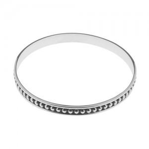 Tianguis Jackson Oxidised Silver Bangle - BT2211