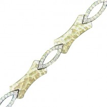 18ct Yellow and White gold Diamond Bracelet D:0.77cts