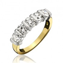 18ct Gold 5st Diamond Eternity Ring - 1.75cts