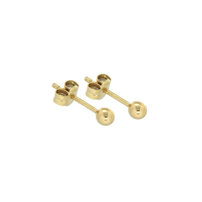 9ct Yellow Gold 4mm Ball Studs