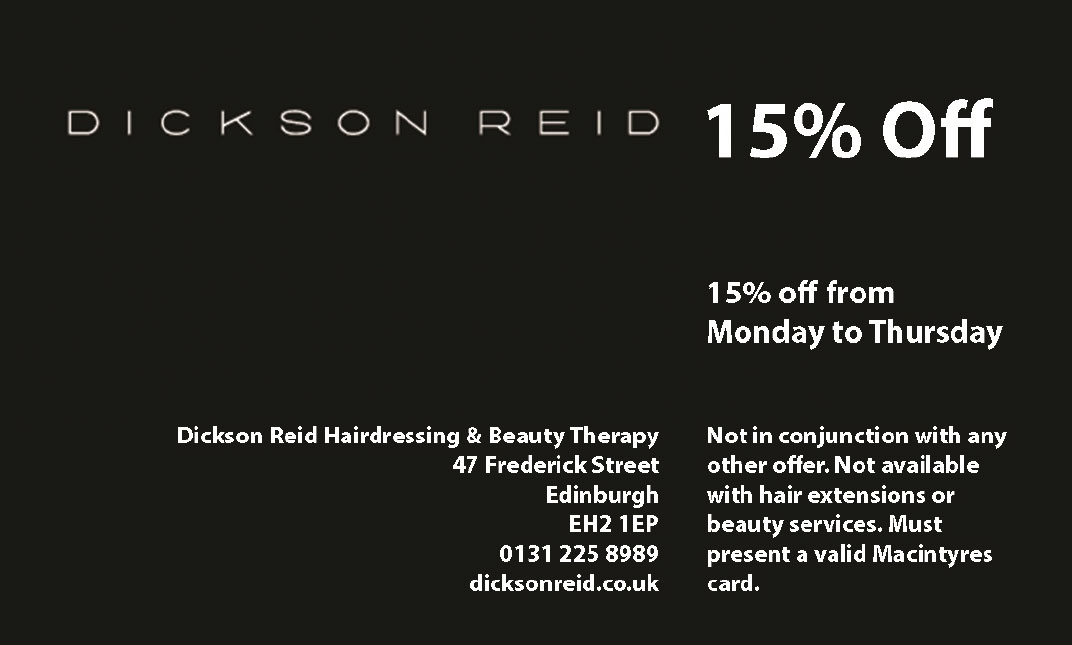 Dickson Reid Hairdresser Edinburgh