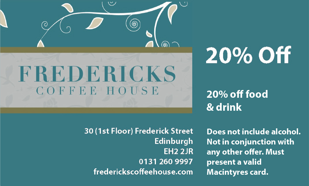 Fredericks Coffee House in Edinburgh
