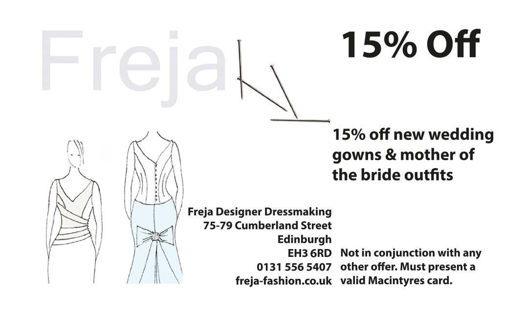 Freja Designer Dressmaker Edinburgh