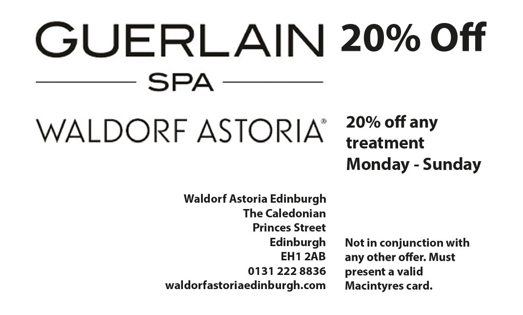 Guerlain Spa Waldorf Astoria Edinburgh Special Offer